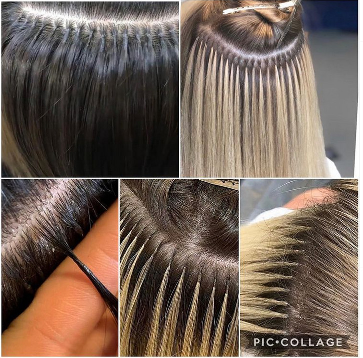 نحوه انجام اکستنشن مو ، اکستنشن مو حلقه ای ، موی اکستنشن حرارتی