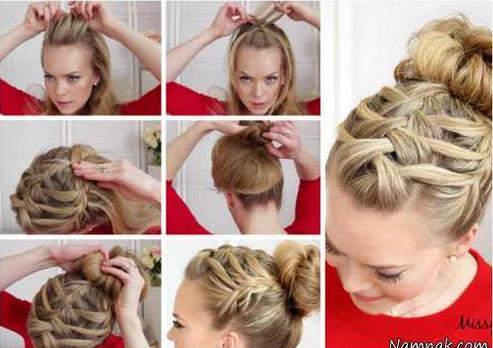 آموزش بافت مو به شکل گل
