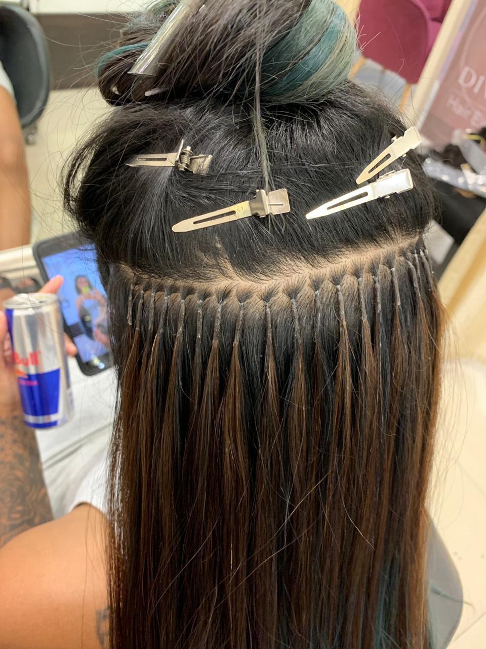 اکستنشن مو تار به تار ، اکستنشن مو تکه ای ، نصب اکستنشن مو
