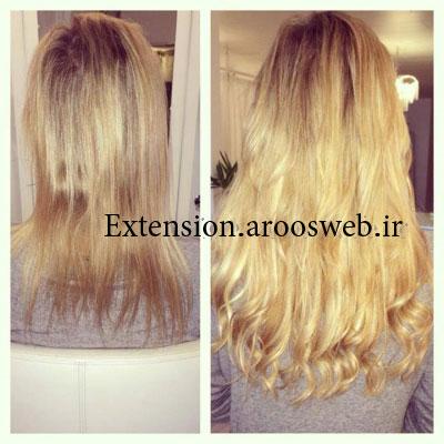 اکستنشن با موی طبیعی