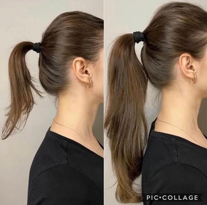 اکستنشن موی طبیعی ، اکستنشن مو شش ماهه ، ترمیم اکستنشن مو