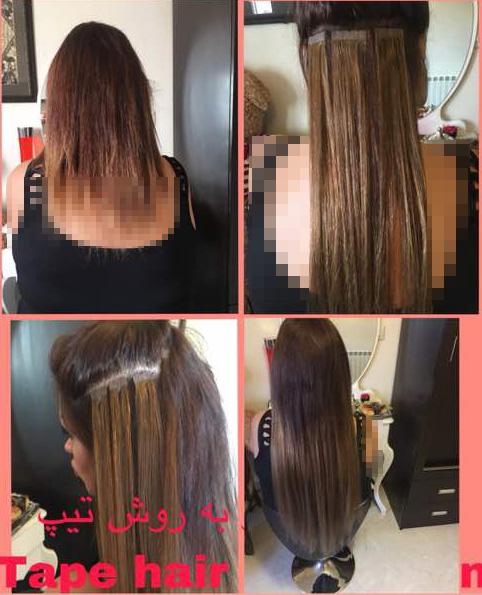 اکستنشن مو خوبه - اکستنشن مو خیلی کوتاه - اکستنشن مو برای موهای خیلی کوتاه