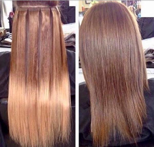 اکستنشن مو بلند - اکستنشن موی خیلی بلند - انواع اکستنشن موی بلند - اموزش اکستنشن موی بلند